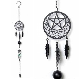 Carillon Gothique Pentagram Dream Catcher - Alchemy Gothic HD8