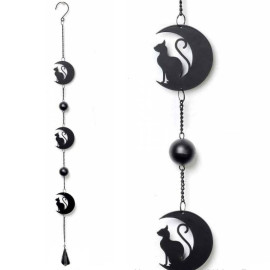 Carillon Gothique Black Cat and Moon - Alchemy Gothic HD9