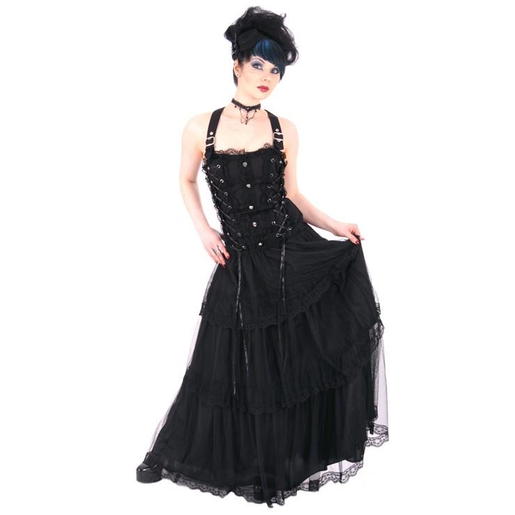 Lolita Gothique Robe Denim Longdress Aderlass qwB4SCw