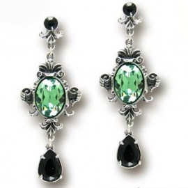Alchemy Gothic E273 Boucles d'Oreilles Gothiques Alchemy Gothic Queen of the Night