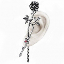 Alchemy Gothic E344 Chained-Love Rose Tour d'Oreille Gothique