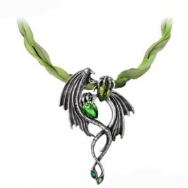 Alchemy Gothic P676 Collier Gothique Alchemy Gothic Emerald Dragon
