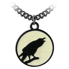 Alchemy Gothic P735 Caw at the Moon Pendentif Gothique Alchemy Gothic