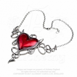 Alchemy Gothic ULFP25 Devil Heart - Collier Gothique