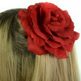Barrette Gothique Rose Rouge