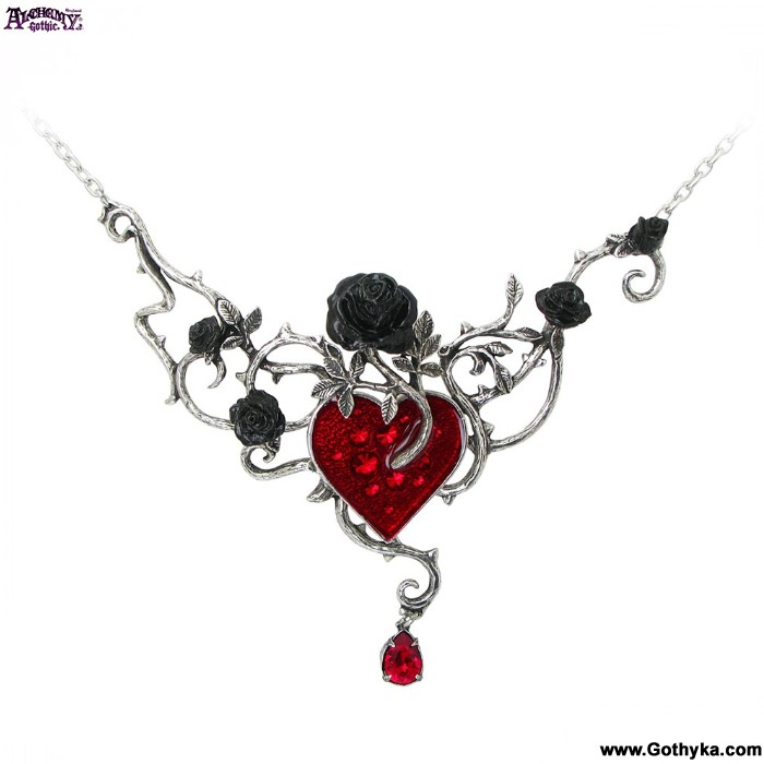 Collier Alchemy Gothic \u0026quot;Bed of blood Roses\u0026quot;