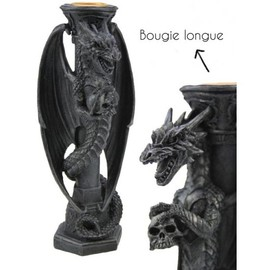 Bougeoir gothique Dragon 65771