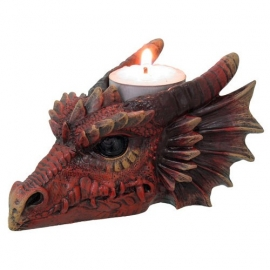 Bougeoir Gothique Dragon Rouge