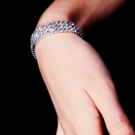 Bracelet Gothique Strass 3 rangs