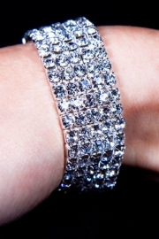 Bracelet Gothique Strass 5 rangs