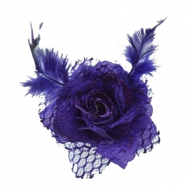 Barrette Gothique Rose Violette