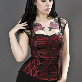 Burleska Maria Top Gothique Rouge