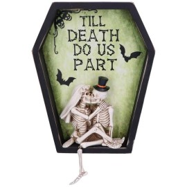 "Cadre mural Relief ""Till Death Do Us Part"""
