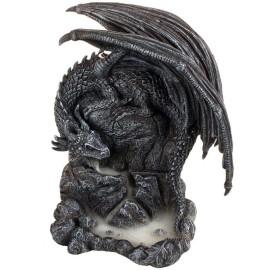 Environ 18/cm Noir Nemesis Now Bo/îte /à Tarot en r/ésine avec Figurine Dragon Taille Unique