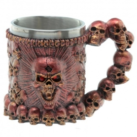 Choppe Gothique Red Skulls