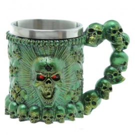 Choppe Gothique Green Skulls