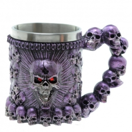 Choppe Gothique Purple Skulls