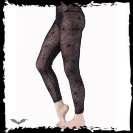 collants gothiques queen of darkness spider web