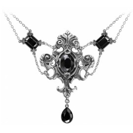 collier Alchemy Gothic P503B Queen of the Night Black