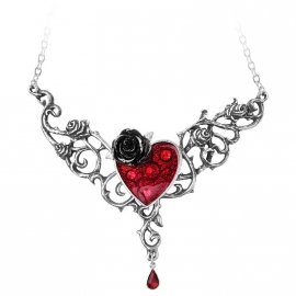 collier gothique alchemy gothic The Blood Rose Heart P721