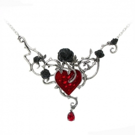 collier gothique alchemy gothic bed of blood roses