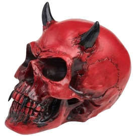 Figurine Alchemy Gothic Crimson Demon Skull