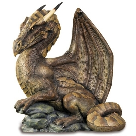 figurine dragon brun