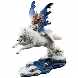 Statuette Fée Butterfly fairy and the leaping