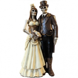 Figurine Couple Squelettes I Do - D1419D5