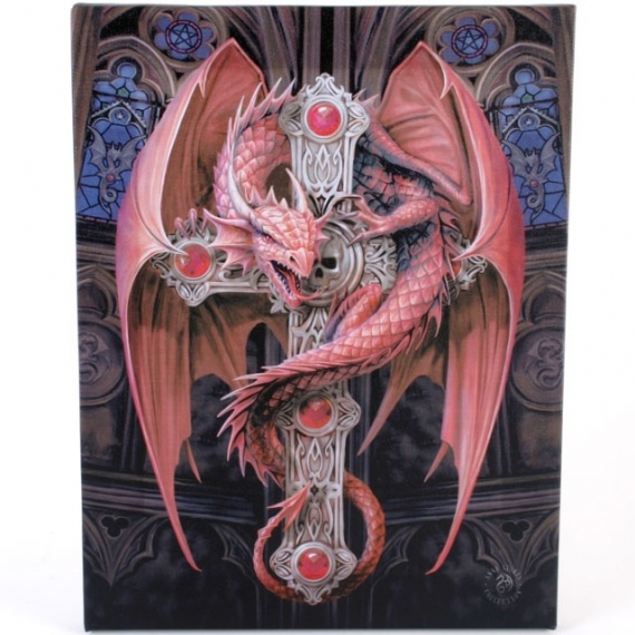 Toile sur chassis gothique anne stokes gothic guardian - Toile sur chassis ...