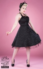 H&R LONDON 6611 - Robe Gothique Black Brocade Long