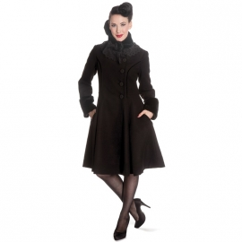 Manteau Gothique Hell Bunny Angeline Black