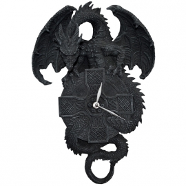 horloge gothique dragon