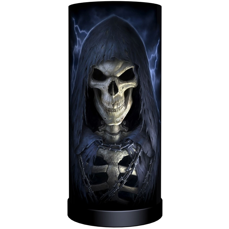 lampe de chevet the reaper round boutique gothique. Black Bedroom Furniture Sets. Home Design Ideas