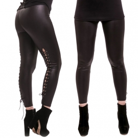 Legging Gothique Cupcake Cult Lace Up