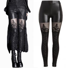 legging gothique queen of darkness Wet and Cotton Look