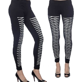 legging gothique queen of darkness Lacing