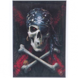 magnet gothique anne stokes Pirate Skull