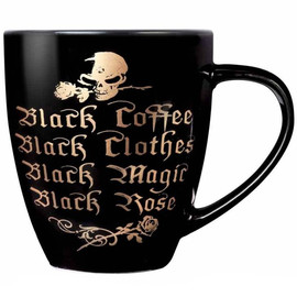 Mug Alchemy Gothic Black Coffee, Black Clothes...