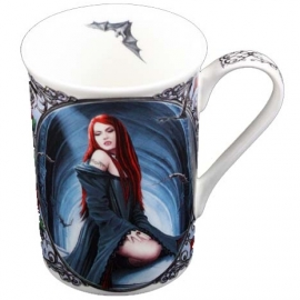 mug gothique anne stokes await the night