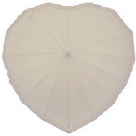 Parapluie Gothique Ivory Frilly Heart