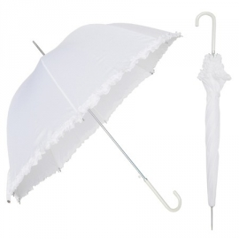 Parapluie Gothique White Lilly