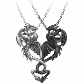 Double Pendentif séparable Alchemy Gothic Draconic Tryst