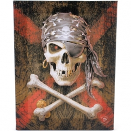 toile sur chassis gothique anne stokes pirate skull
