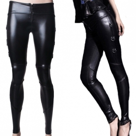 Punk Rave FAK143 Legging Gothique Black Swan