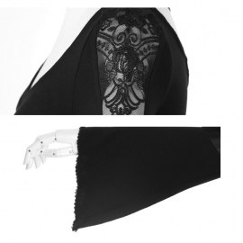 PUNK RAVE Robe Gothique Black Butterfly - PQ022