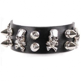 Queen of Darkness Bracelet Gothique Skulls and Pikes ALE-298