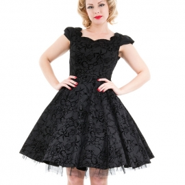 Robe Gothique HR London Black Flocking 135