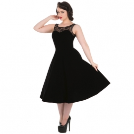 Robe Gothique HR London Black Velvet Romance 3091
