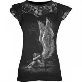 Spiral Direct tshirt gothique Enslaved Angel - Spiral Direct DT195262